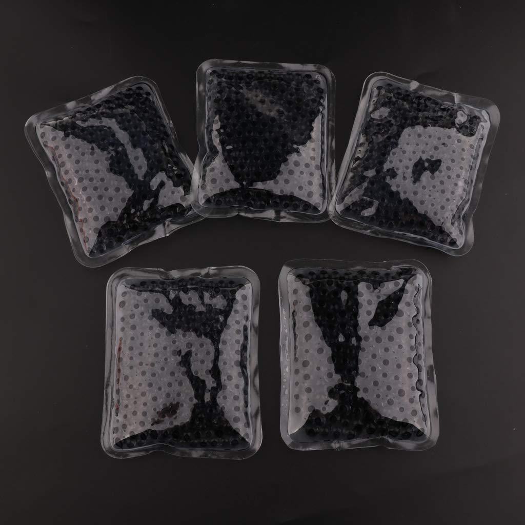 FLAMEER 5 St/ück Premium Kalt-Warm-Kompresse Mehrfach Kompresse Wiederverwendbar Mikrowellen geeignet 10 cm Blau