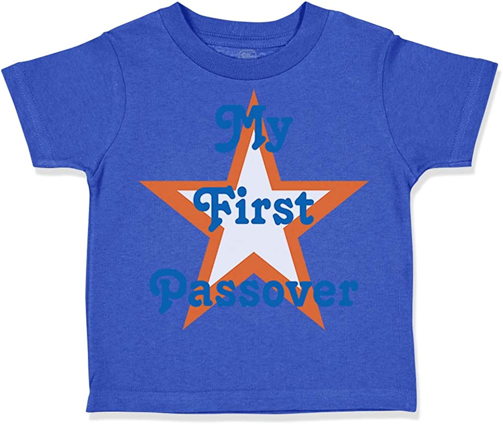 Custom Toddler T-Shirt My First Passover Jewish A Cotton Boy /& Girl Clothes