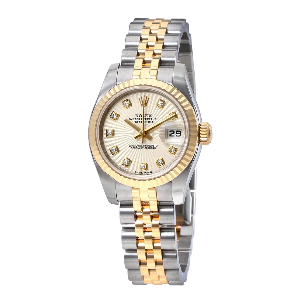 a62a28348cd8 Amazon.com  Rolex Lady Datejust Ivory Sunbeam Diamond Dial Automatic Watch  179173IVDJ  Watches