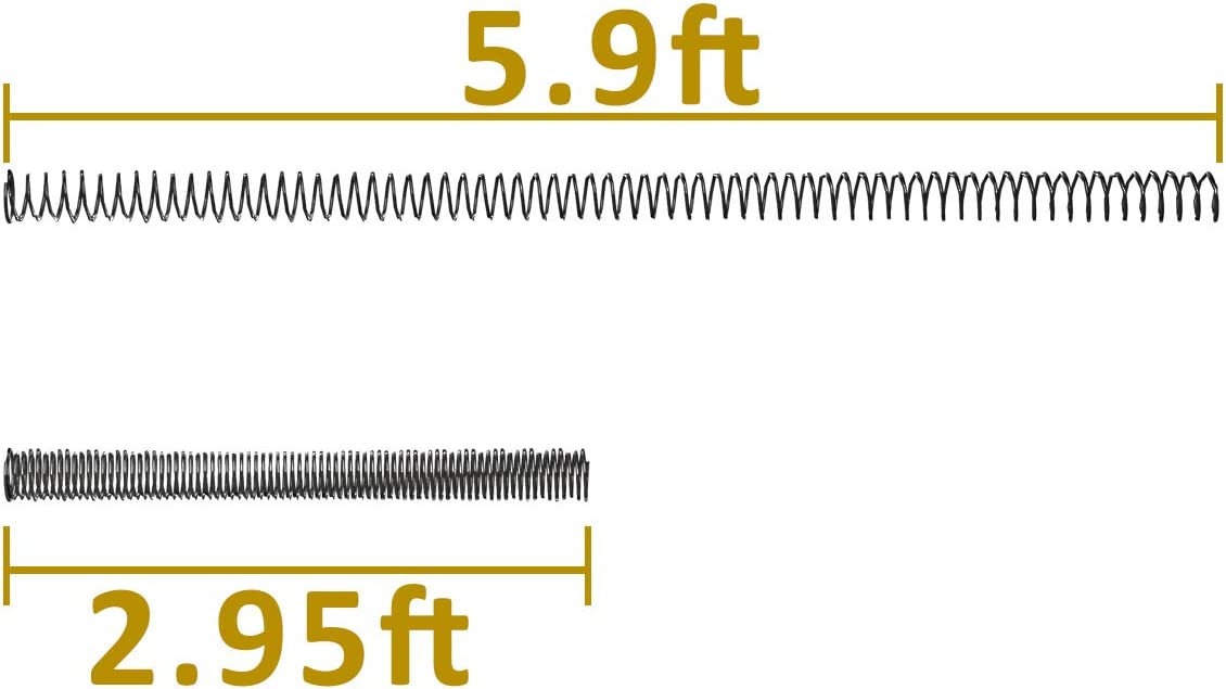 Dawnblade Zipline Spring Brake Kit System 5.9 Feet Zipline Parts for up to 3//8 Inch Cable