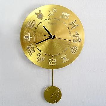 Amazon.de: Wanduhr Uhren und Uhren Pendeluhr Blau Silber rot Gold ...