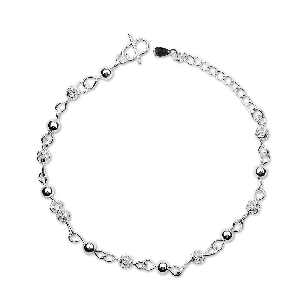 Nanhong Anmutiges Armband mit Mini-Perlen Charm in 925 Sterlingsilber SZ01