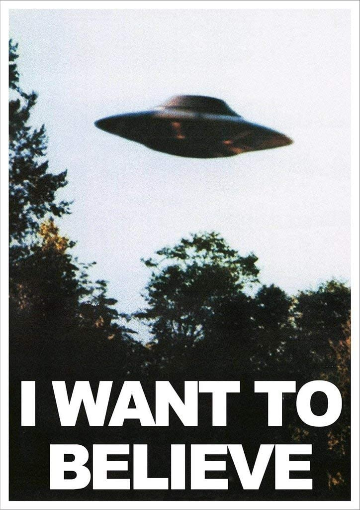 """Kopoo X Files I Want to Believe Mulders Office Tv Show Poster, 12"""" x 18"""" (297 x 450 mm)"""