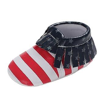 Zapatos de Bebé cinnamou bebé Chica Joven rayas Soft Sole zapatos ...