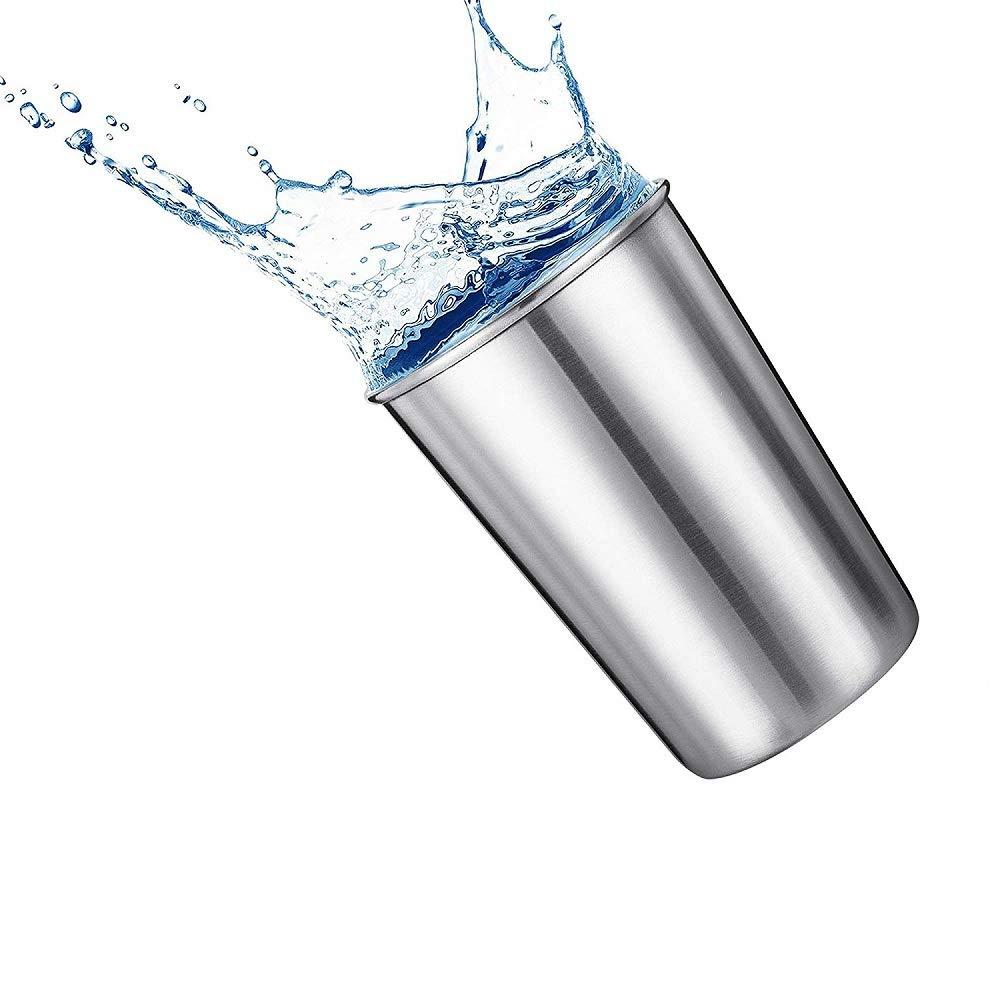 uso en interiores y exteriores vasos de metal apilables de alta calidad vasos de bebidas para camping vasos de bebida Kaptin 5 unidades 16 oz vasos de pinta de acero inoxidable
