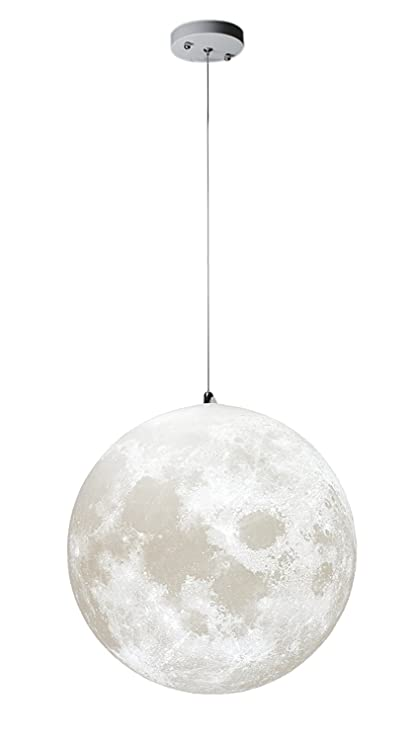 Amazon Com Gahaya Moon Pendant Lamp 3d Printing Ceiling Light 3200k