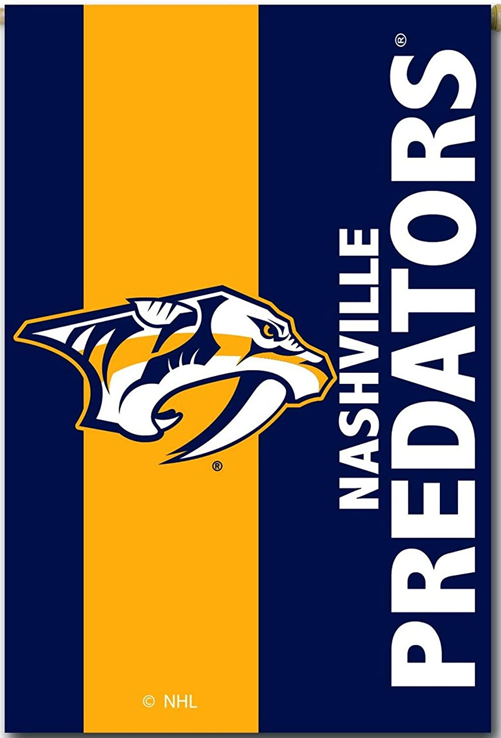 Rico Industries, Inc. Nashville Predators Embellish Premium 2-Sided Garden Flag Applique Banner Hockey
