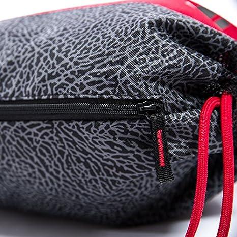 official photos fec1b 0de65 Nike AIR JORDAN Daybreaker Drawstring Gym Sack, Black Grey Red   Amazon.co.uk  Sports   Outdoors