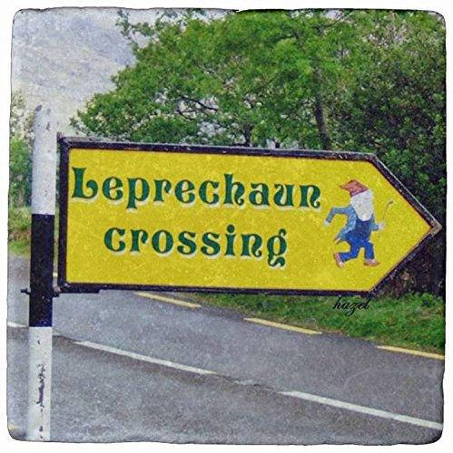 Leprechaun交差、サイン、ディングル、ケリー、アイルランド、ストーンコースター   B07566NTP2