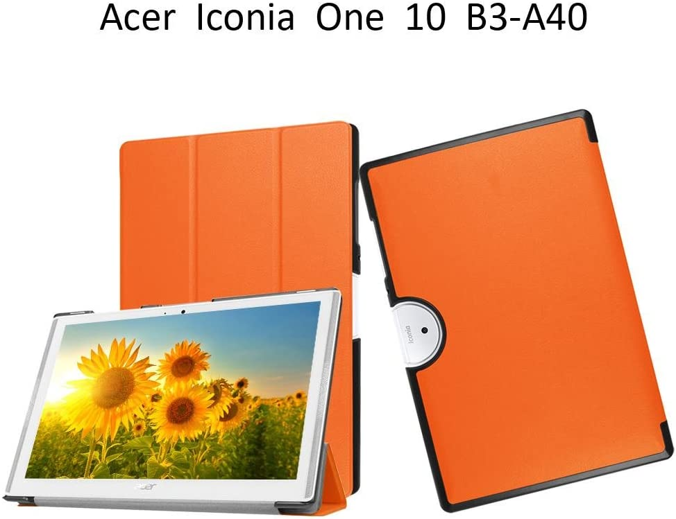 Acer Iconia One 10 Case B3-A40,Acer iconia 10 Tablet Cover,Acer Iconia One 10 B3-A40 Shell Case,Folio Folding Cover Flip Case for Acer Iconia One 10 B3-A40 Flip Case,Orange