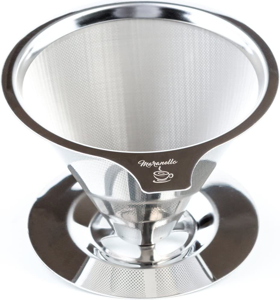 3.5 inch Stainless Steel Coffee Filter Portable Reusable Coffee Dripper Mesh