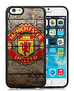 Manchester United Pattern Custom Made Case/Cover/Skin For Iphone 6 4.7 Inch TPU Phone Black Case (Laser Technology)