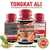 Tongkat Ali EXTREME Longjack Extract - 3000 mg Maximum Strength Long Jack 200:1 Root Extract - Testosterone Booster 60 Vegetarian Supplement - Natural Stamina Booster Capsules