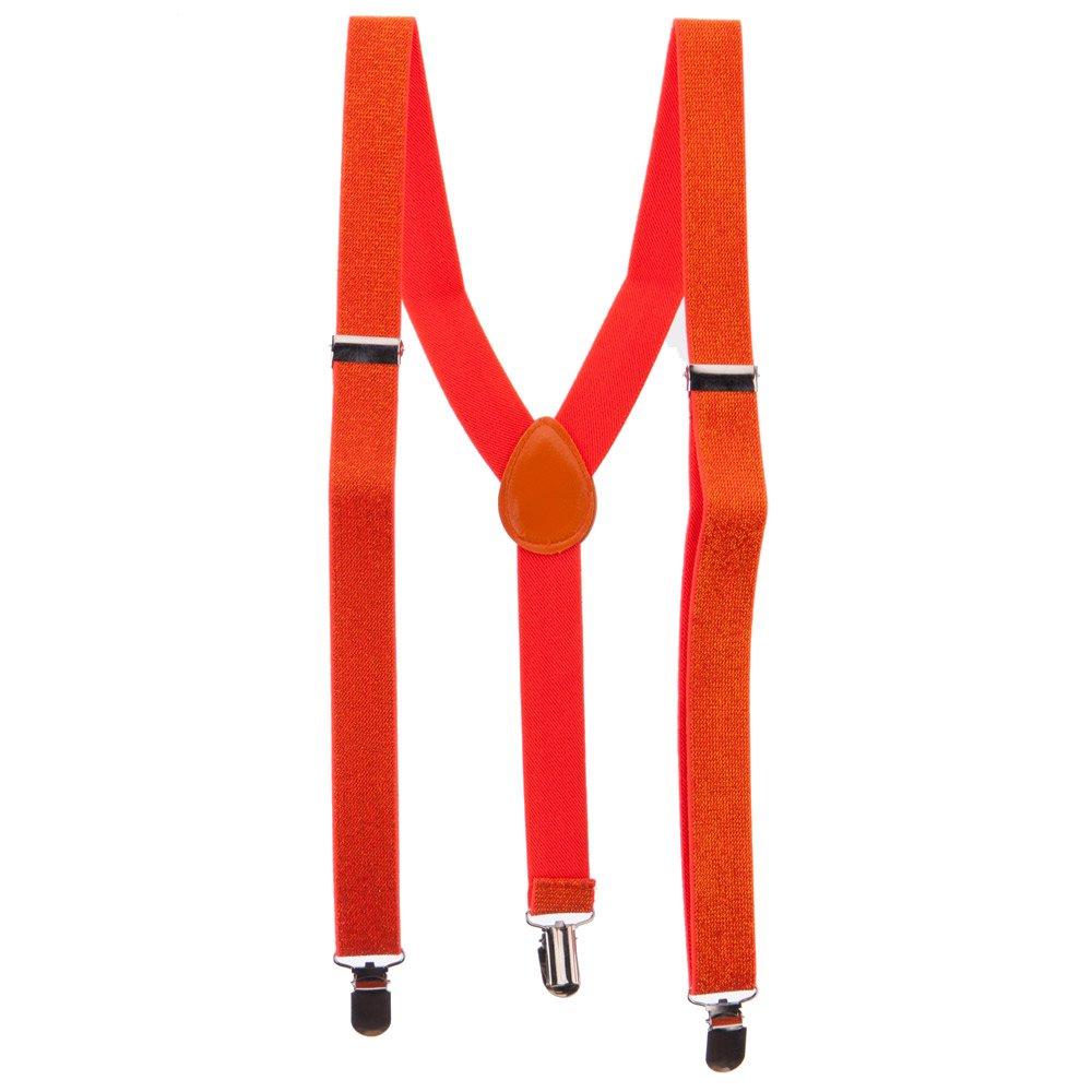 Orange Sparkle Suspenders