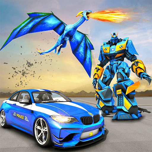 Futuristic Dragon Robot Fighting Car Robot Action Game (Best Car Shooting Games)