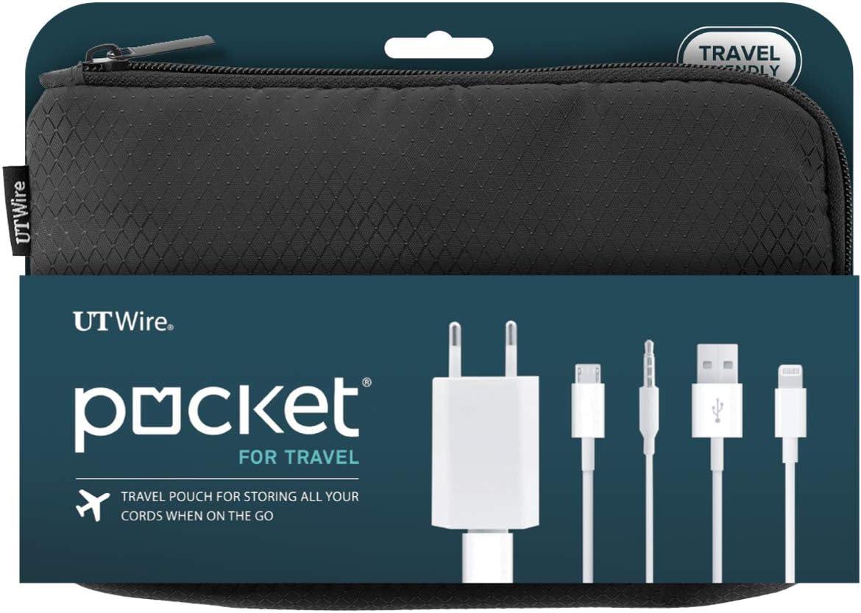 3883 Outdoor Travel Kit Nylon Waterproof Cable Holder Hiking Organizer USB