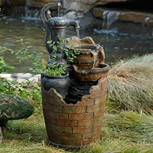61 5sCJDtXL. SS300  - Glenville Water Pump Cascading Water Fountain