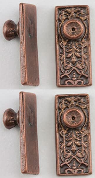 Amazon.com: Dollhouse Miniature 1:12 Ornate Door Knobs in Oil Rubbed ...