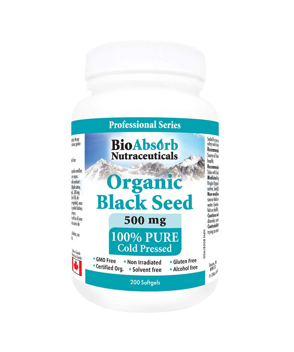 Black Cumin Seed Oil Capsules. Organic, Cold Pressed. 200 softgels, 500mg (50-Day Supply). No Aftertaste.