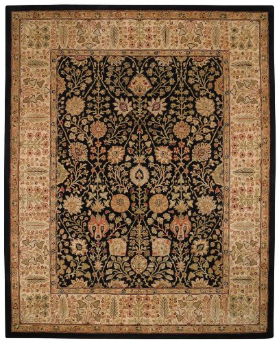 Capel Rugs Forest Park-Persian Cedars Rectangle Hand Tufted Area Rug, 9 x 13', Onyx