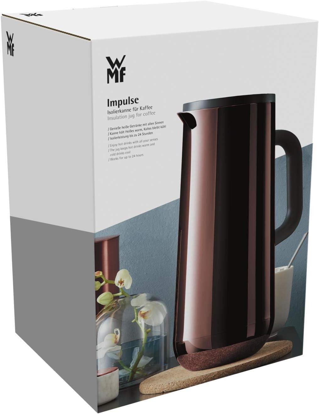 WMF Impulse Isolierkanne für Tee 1Liter vintage Kupfer Cromargan Teekanne Kaffee