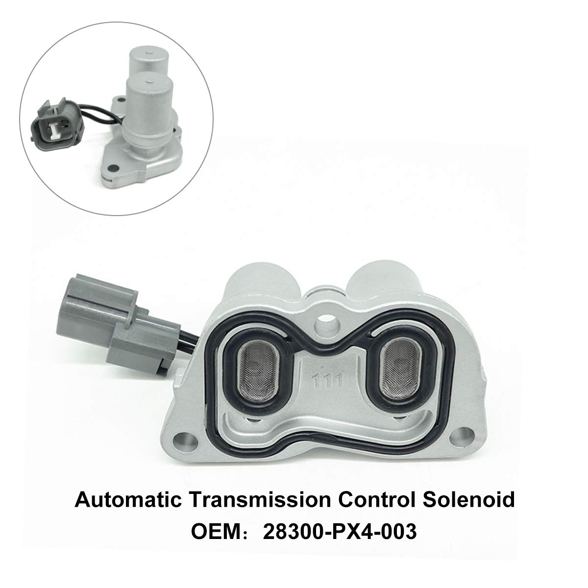 Transmission Control Shift Lock up Solenoid Replacement For 1998-2002 Honda Accord 4 Cylinder 1997-2001 28300-PX4-003 Honda Prelude 1997-1999 Acura CL 1995-1998 Honda Odyssey Automatic Control Solenoi