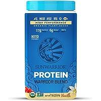 Sunwarrior - Warrior Blend, Plant Based, Raw Vegan Protein Powder with Peas & Hemp, Vanilla, 30 Servings, 26.4 Ounce