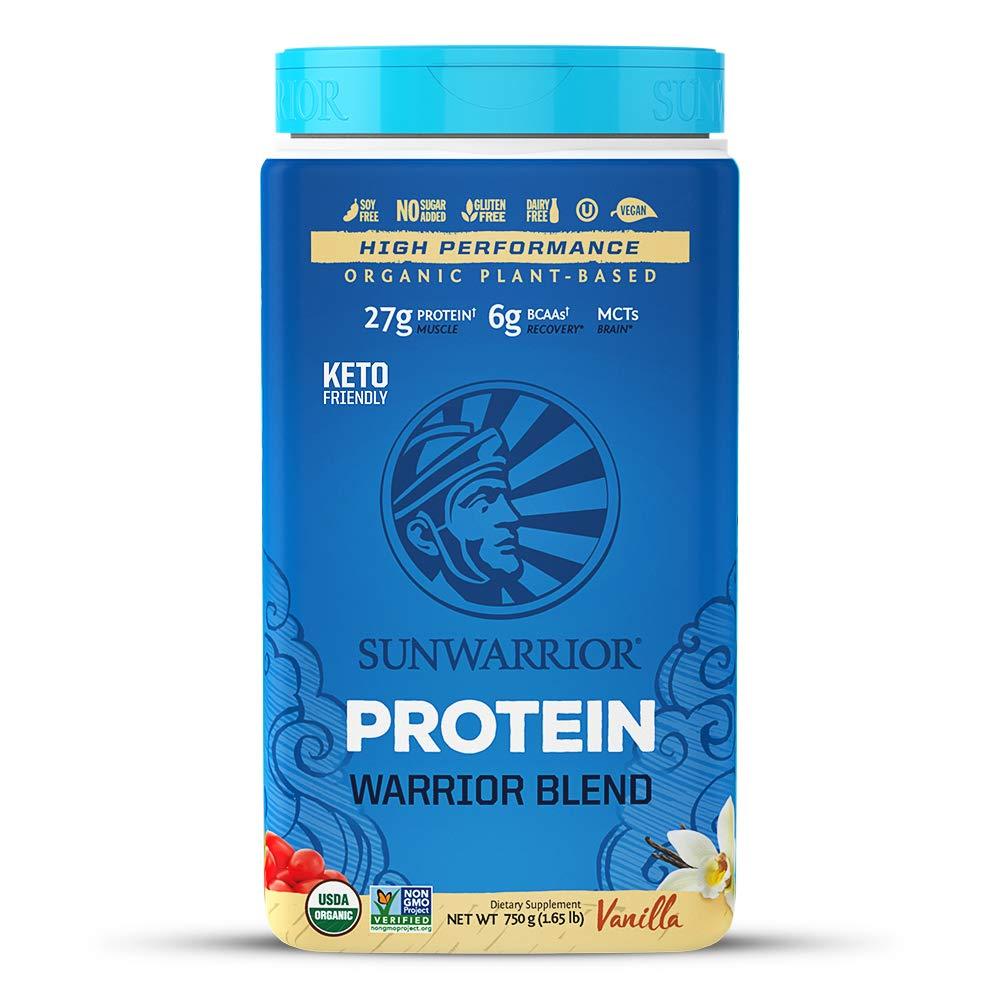 Sunwarrior - Warrior Blend, Plant Based, Raw Vegan Protein Powder with Peas & Hemp, Vanilla, 30 Servings by Sunwarrior