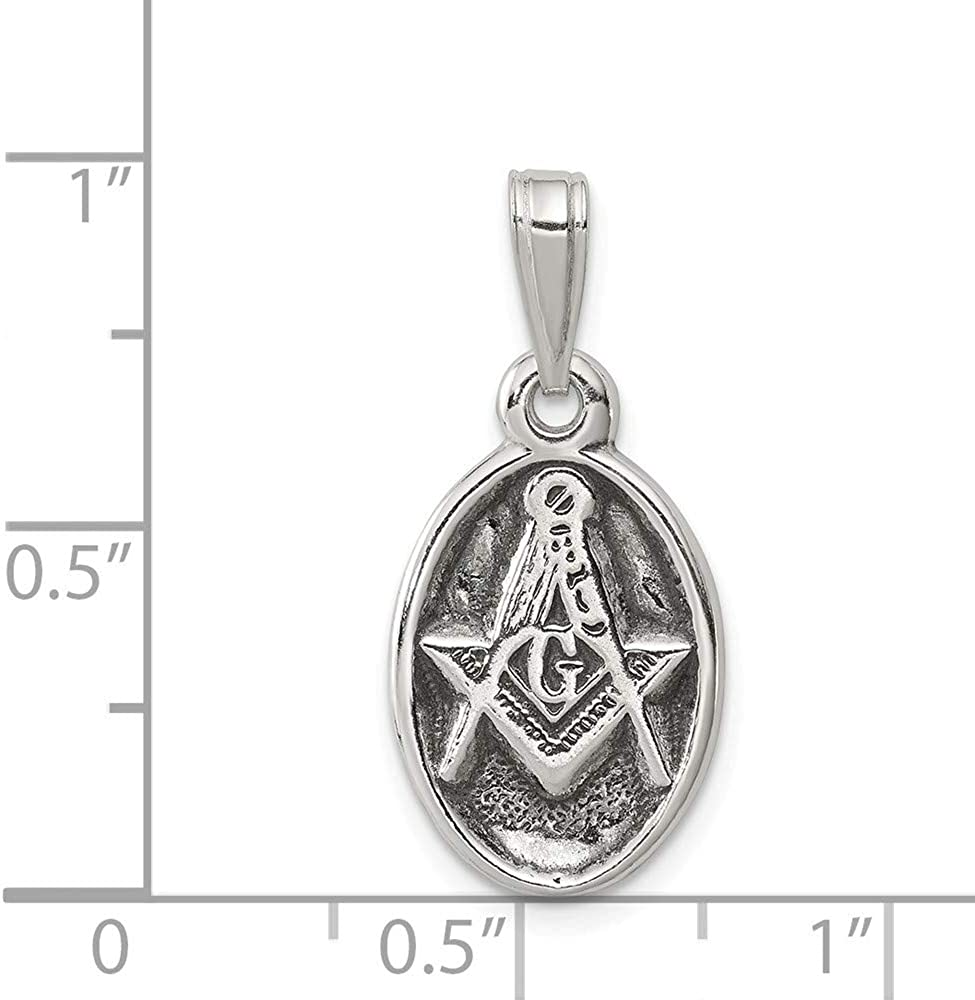 Roy Rose Jewelry Sterling Silver Antiqued Masonic Charm