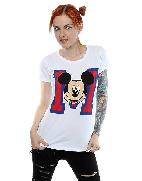 975ec5e9 Amazon.com: Disney Women's Mickey Mouse M Face T-Shirt: Clothing