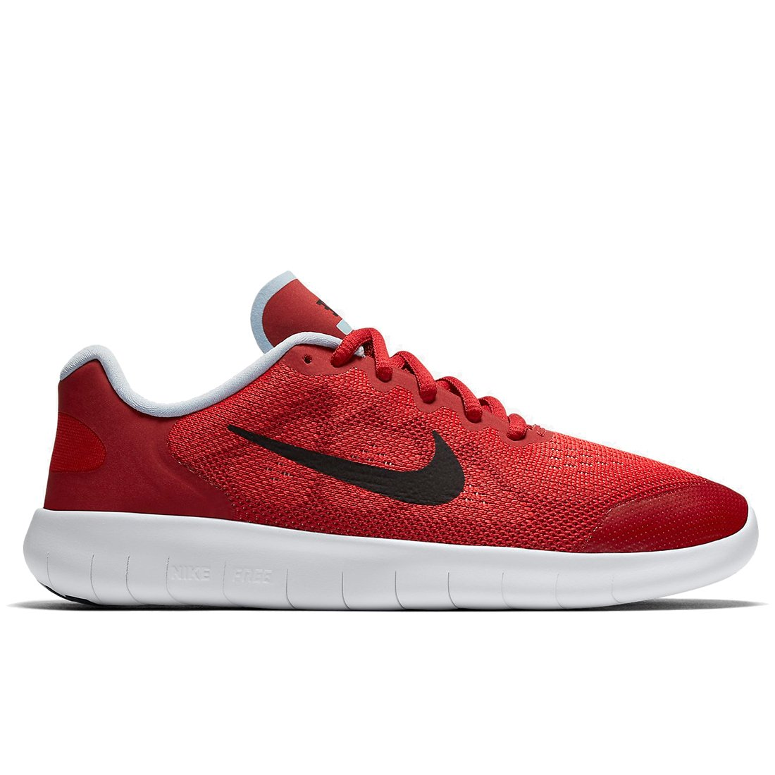Nike Boys Free RN 2017 Size 4.5 UniversityRed/PortWine/ToughRed by NIKE