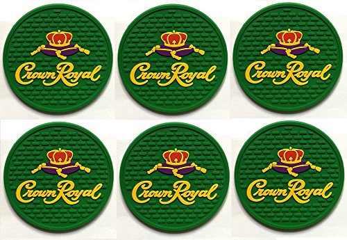 Crown Royal Regal Apple Canadian Whisky Bar Coasters Spill Mats set of 6 -