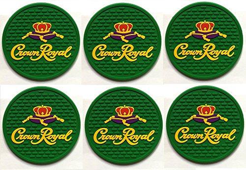 Crown Royal Regal Apple Canadian Whisky Bar Coasters Spill Mats set of 6