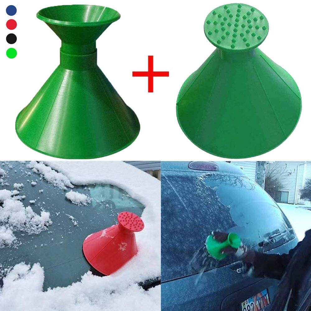 Magical Ice Scraper for Car Leegoal Scrape-A-Round Magic Cone-Shaped Windshield Ice Scraper Snow Shovel Tool