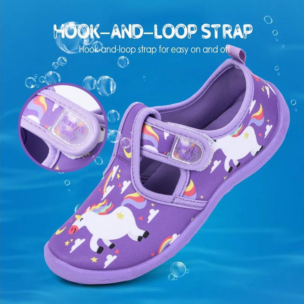 Unicorn Dinasour Rainbow Toddler//Little Kid Shark nerteo Boys Girls Cute Aquatic Water Shoes