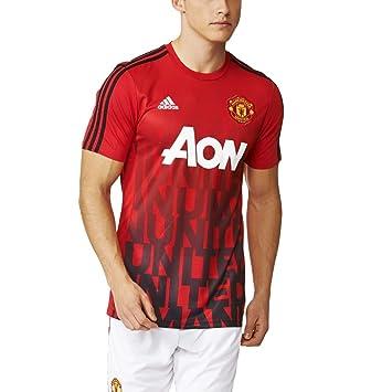 adidas Manchester United Home Pre Match Shirt Schwarz   adidas Deutschland