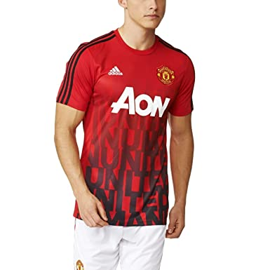 ba7eaa9cebc Image Unavailable. Image not available for. Color: Manchester United Home  Pre Match Jersey ...