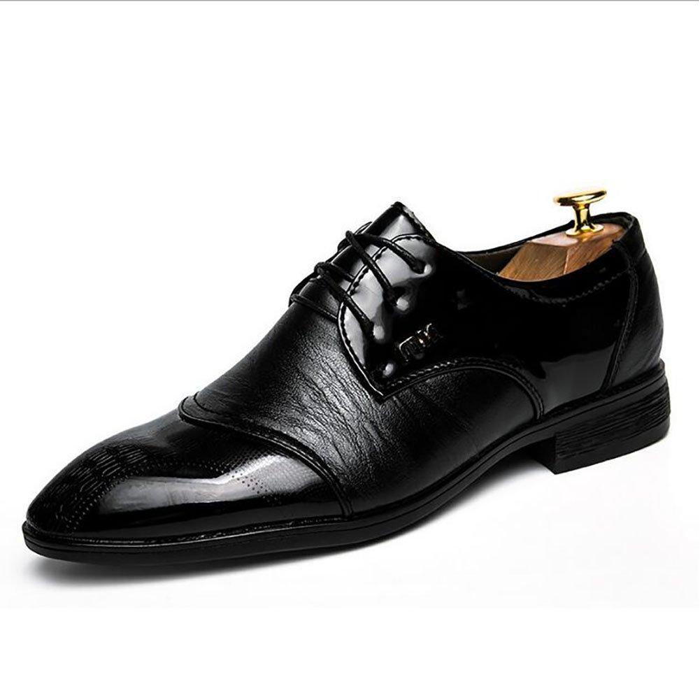Herren Lederschuhe Formale Geschäftsarbeit Bequeme Mokassins Oxford Schuhe Klassische Schnürschuhe Lederschuhe Party & Abend Hochzeit Wanderschuhe (Farbe : Schwarz, Größe : 40)
