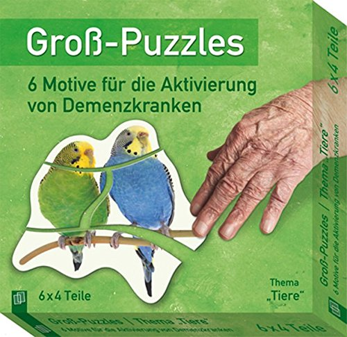 """Groß-Puzzles: Thema """"Tiere"""": 6 Motive für die Aktivierung von Demenzkranken"""