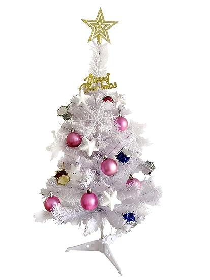 Jiaju 2 Ft Christmas Tree Table Top Christmas Tree Pink Christmas Tree Blue Christmas Tree Decorated Purple Christmas Tree With Ornaments Sets