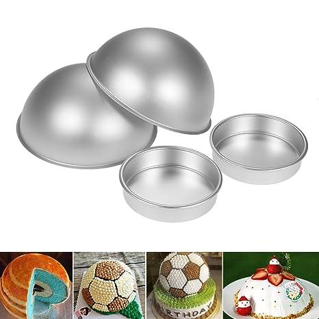 3d bola molde bola de aleación de aluminio de la mitad deportes bola lata de pan