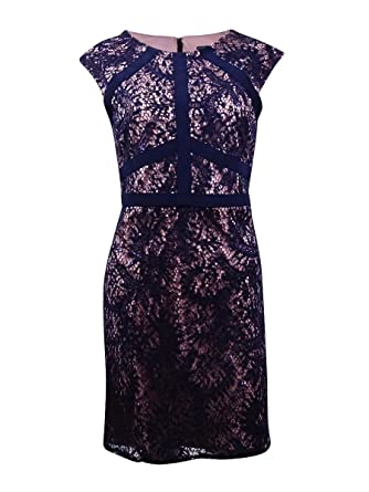 cd0f9e80d1b Nightway Women s Sleeveless Sequin Lace Sheath Dress at Amazon ...