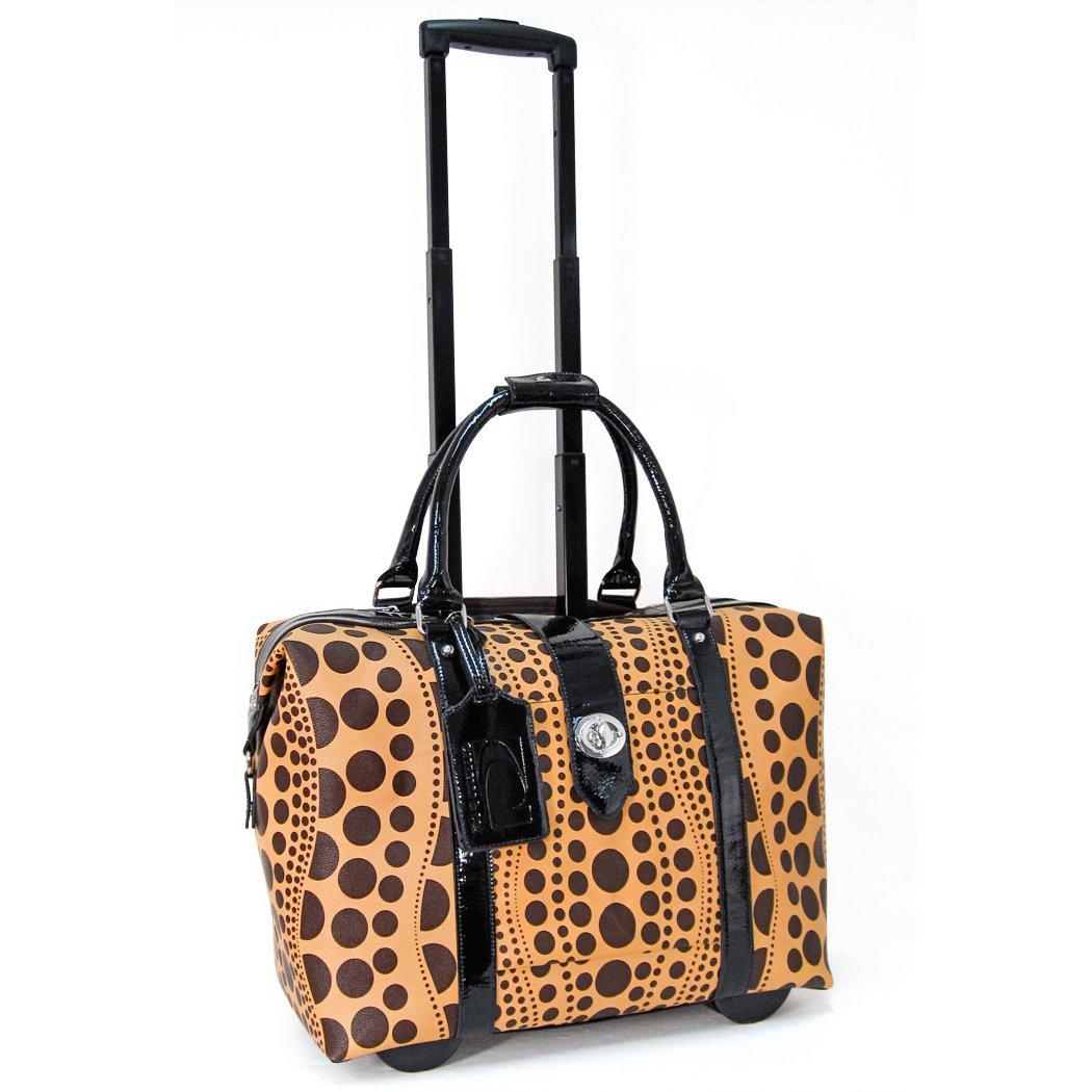 One Size 714011U/_SDB Cabrelli Wavy Polka Dot Laptop Rollerbrief Sand//Brown