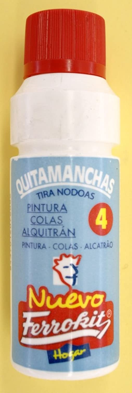 QUITA MANCHAS DE PINTURA COLAS ALQUITRAN PARA TODO TIPO DE TEJIDOS 50 ML FERROKIT: Amazon.es: Hogar