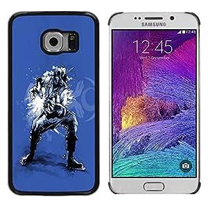 LECELL -- Funda protectora / Cubierta / Piel For Samsung Galaxy S6 EDGE SM-G925 -- Cool Music Gas Mask Air Guitar --