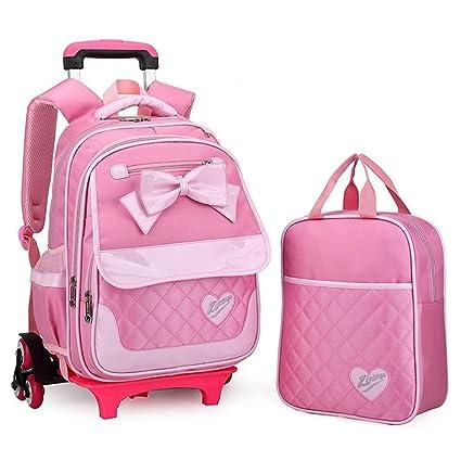 8adbaaf6e7ff Geromg Wheeled School Backpack Wheels Kids Travel Trolley Bag Schoolbag  Children School Bags Girls Detachable Schoolbag