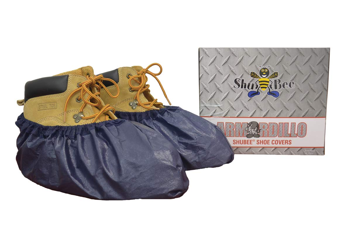 ShuBee Armordillo Shoe Covers, Blue (50 Pair)