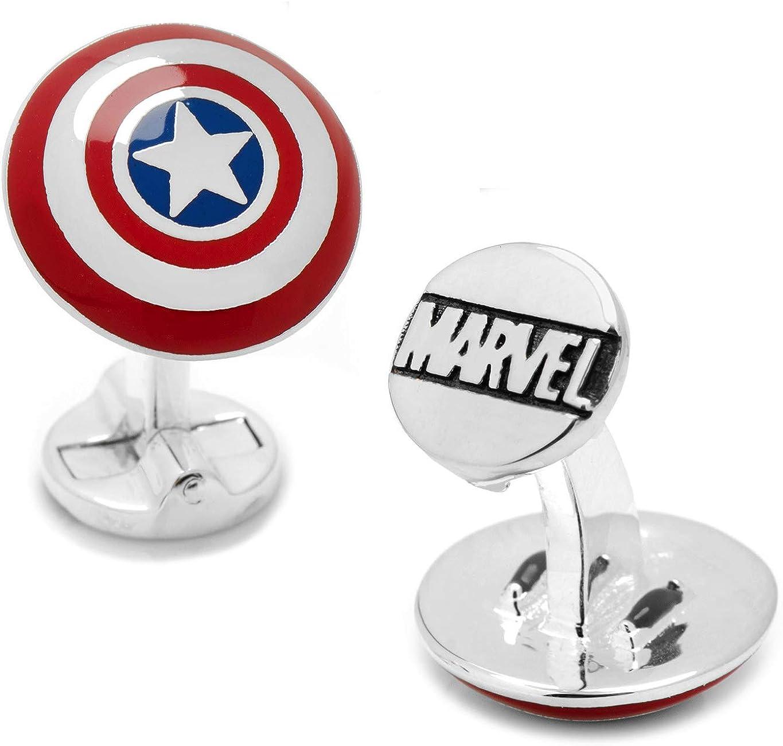 Captain America Shield Cufflinks With Storage Box