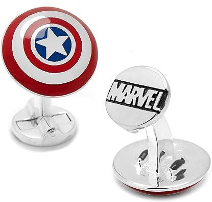 Superheld Cartoon Komik Logo Chrom Manschettenknöpfe Schmuck Avengers Geschenk