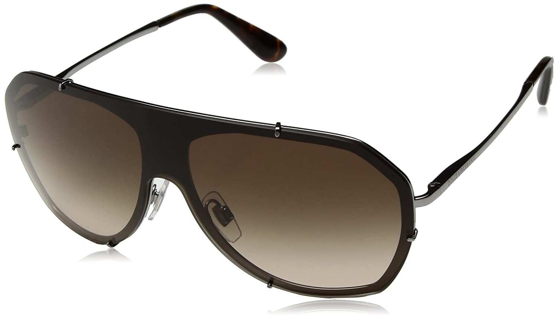 Dolce & Gabbana Damen Sonnenbrille 0DG2162 04/1, Grau (Gunmetal/Browngradient), 1